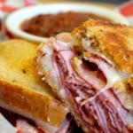 House of Beef Hot Pastrami Sandwich