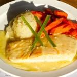 House of Beef Salmon Filet dinner